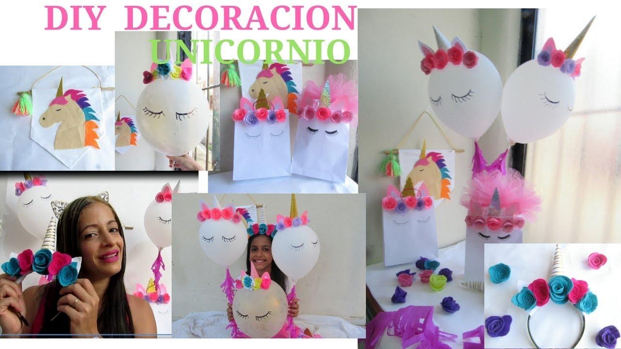 Diy decoraci n de unicornio globos fundita diadema y for Decoracion para pared de unicornio