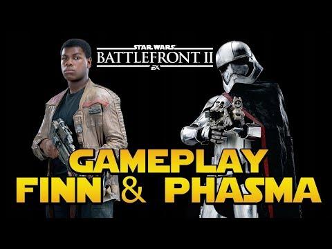 Download Youtube: FINN & PHASMA GAMEPLAY (Habilités + Emotes) | Star Wars Battlefront 2