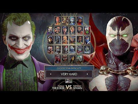 Mortal Kombat 11 Spawn Vs Joker Gameplay Very Hard Difficulty MK11