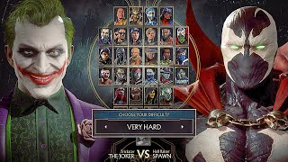 Mortal Kombat 11 Spawn Vs Joker Gameplay Very Hard Difficulty MK11