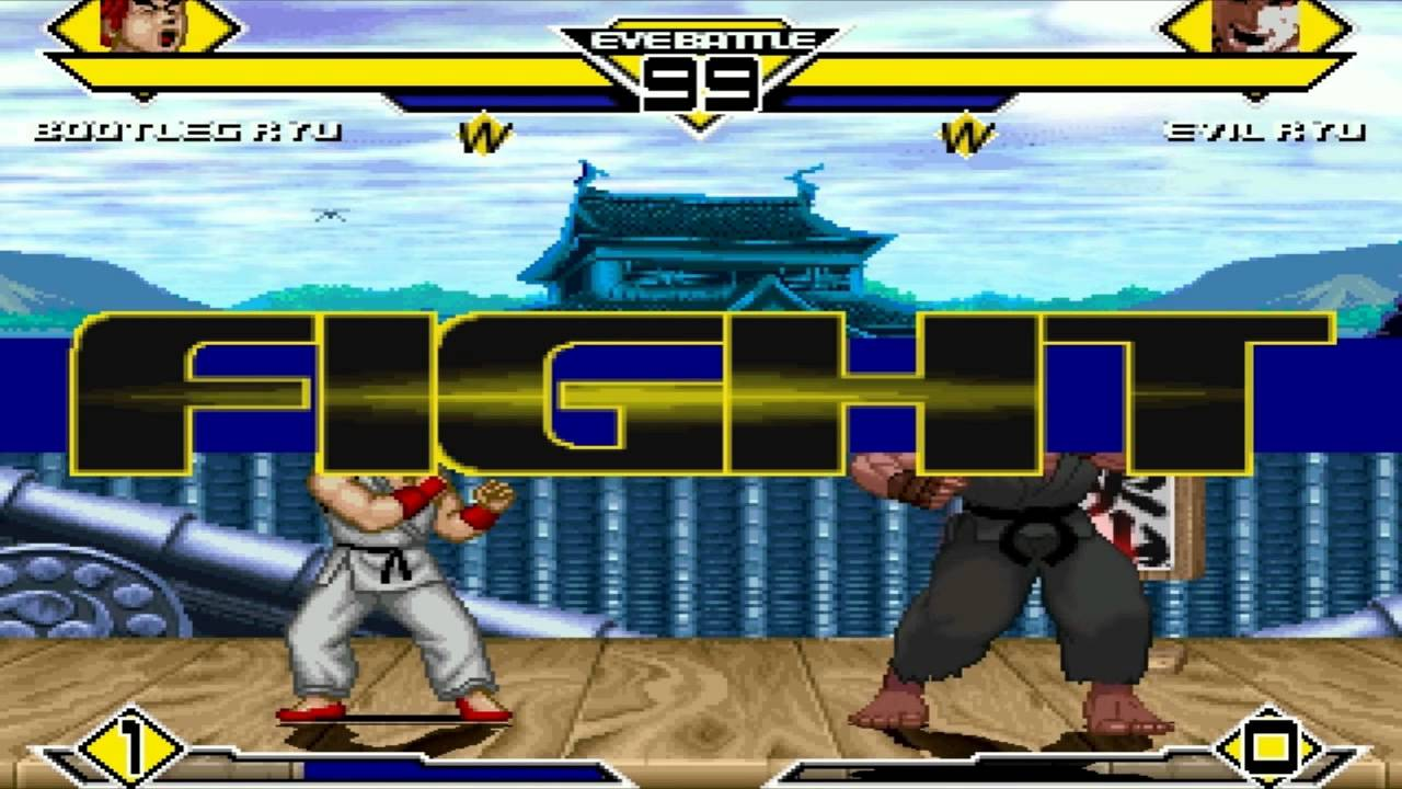 SS MUGEN All-Stars #128 - Bootleg Ryu(me) vs. Evil Ryu #1