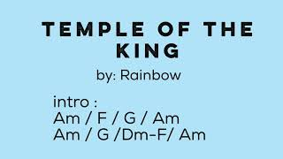 Temple of the King ( by Rainbow ) - Lyrics with Chords