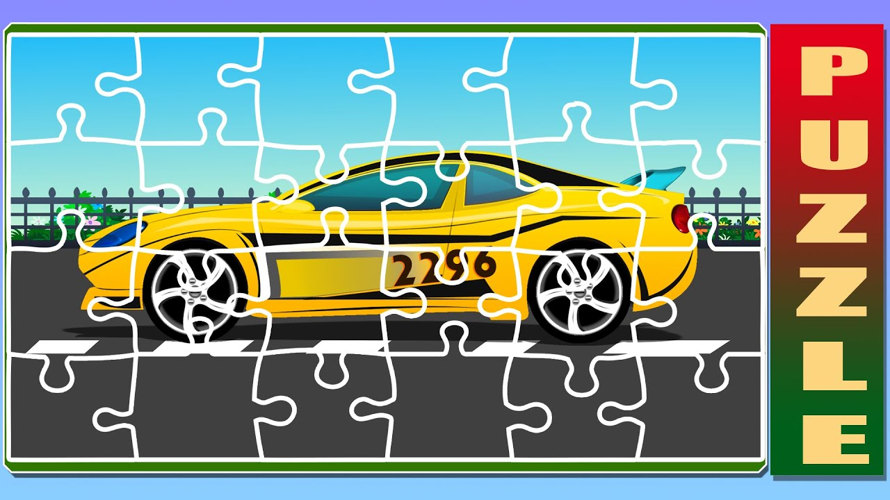 puzzle game sports cars racing cars for kids youtube