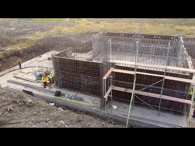 Szalowanie ścian magazynu materiałów wybuchowych - KWK Budryk w Chudowie | #szalunki #budowa #slask