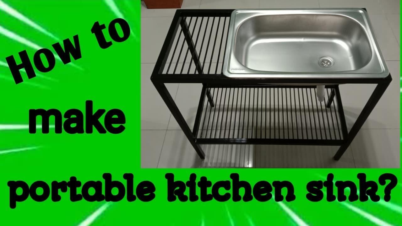portable kitchen sink youtube