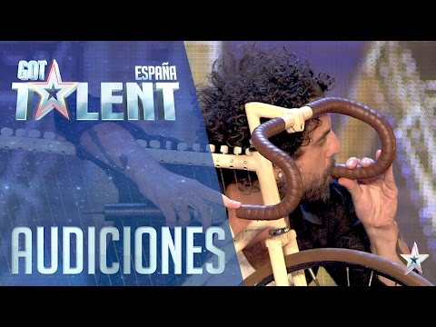 Who would have thought you can use a bike to produce music?   Auditions 3   Spain's Got Talent 2016