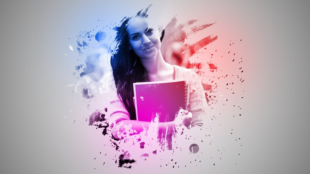 Photoshop CS6: Simple Paint Splash/Splatter Effect | Tutorial