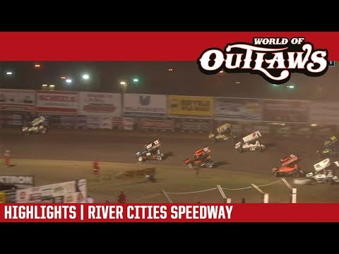 World of Outlaws Craftsman Sprint Cars River Cities Speedway August 17, 2018 | HIGHLIGHTS