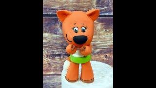лисичка мимишки из мастики ( запись прямого эфира instsgram )fondant fox tutorial
