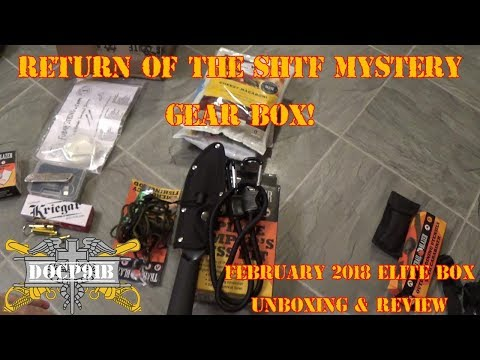 Return of the SHTF Mystery Gear Box! - February 2018 Elite Box Unboxing & Review