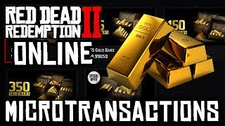 Red Dead Online - BUYING GOLD BARS & FREE GOLD BARS & DOLLARS (Update & Microtransactions)