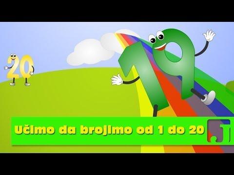 Učimo da brojimo od 1 do 20 | Edukativne pesme za decu | Jaccoled