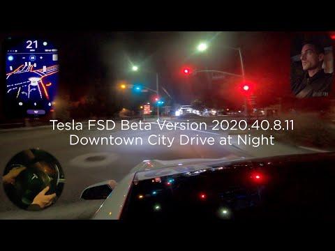 Tesla FSD Beta - Short Night City Drive