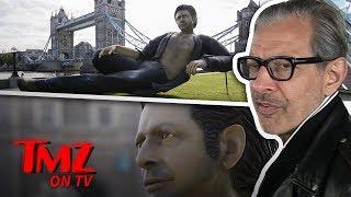 Jeff Goldblum And His Huge.....Statue | TMZ TV