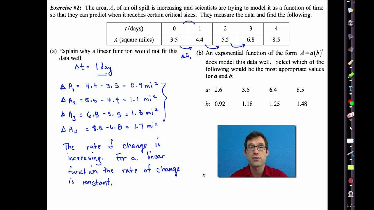 worksheet Exponential Functions Worksheet Algebra 1 common core algebra i unit 11 lesson 4 another look at linear and exponential models