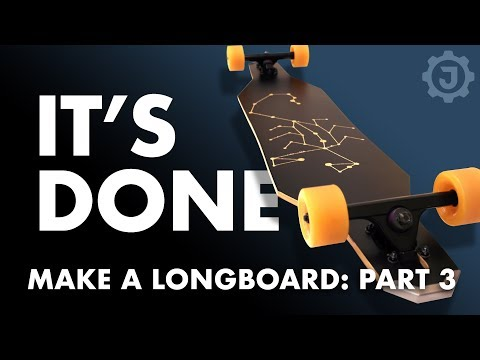 How to Make a Fiberglass Longboard (3. Finishing It)