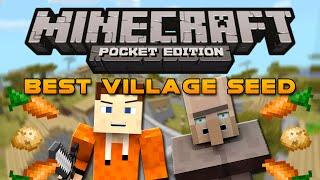 Biggest VILLAGE Ever Seed! - Minecraft Pocket Edition Village Seed (Huge Village!)