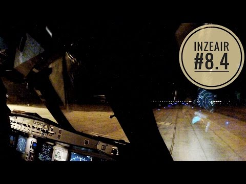 INZEAIR #8.4 - A330 NIGHT FLIGHT IN COCKPIT TAKE OFF LOME LANDING PARIS