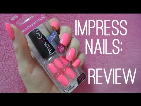 Impress Press On Nails Review Youtube