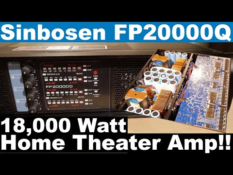 FP20000Q Unboxing | Sinbosen Clone Amp | Home Theater Subwoofer Amp