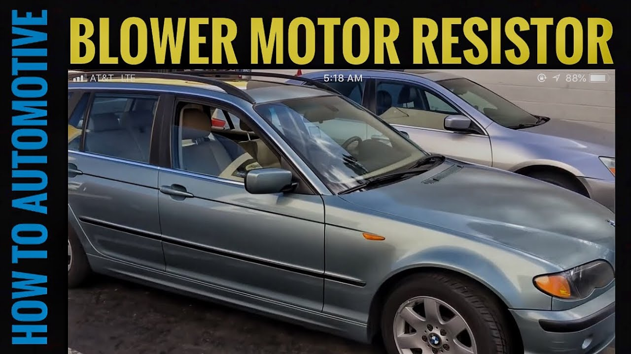 How To Replace The Blower Motor Resistor On A Bmw 3 Series E46 1999 1994 325i Engine Diagram 2005
