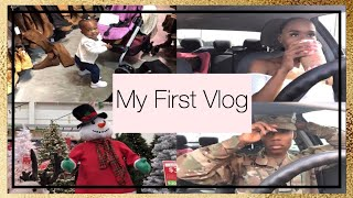 My First Vlog | Military lifestyle | early Christmas shopping | VLOG