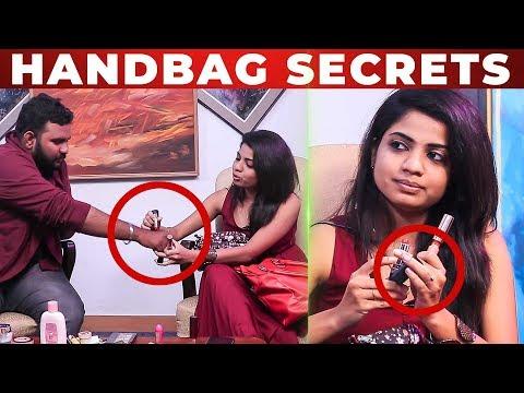 LIP STICK Test With VJ Ashiq | RJ Raghvi HANDBAG Secrets | What's Inside the Handbag