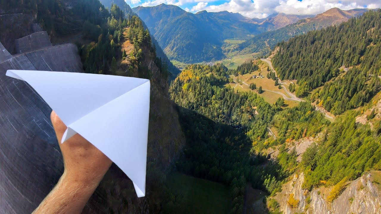 Download Throwing PAPER AIRPLANES from 165m Dam!