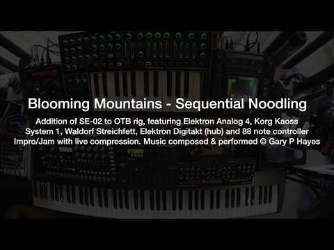 Blooming Mountains - Tangerine Dream style impro. SE-02, Elektron Digitakt, Analog 4, Streichfett