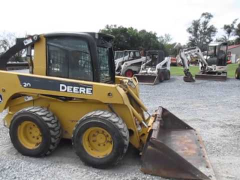 2008 John Deere 320 Skid Steer Loader W Cab Youtube