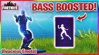 (VBucks Giveaway) FORTNITE VIVACIOUS EMOTE BASS BOOSTED! Emote fuite