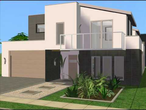 The sims 2 modern house design youtube for Minimalist house sims 2
