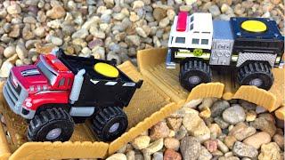 Tonka Climbovers Heavy Hauler Fire Stomper mighty machines trucks camion brinquedos carrinhos