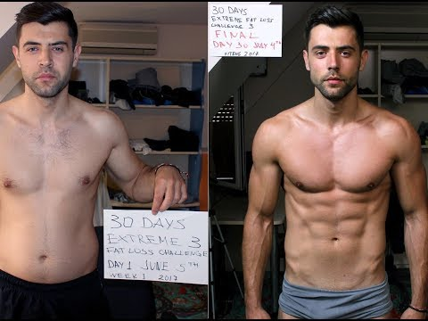 AMAZING 30 DAYS TRANSFORMATION - Extreme Fat Loss Challenge