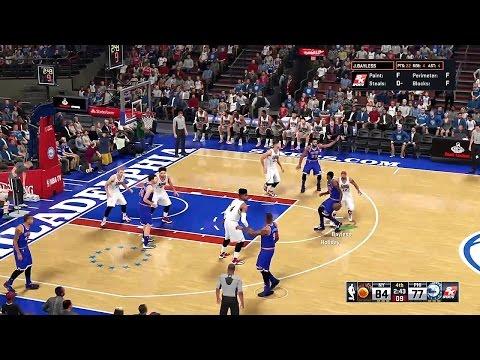 NBA 2K16 Gameplay - Philadelphia 76ers vs New York Knicks (Updated Rosters)