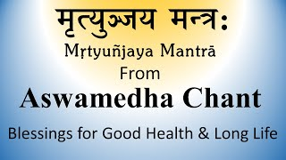 Vedic Chant | Blessings for Healthy long life | From Ashwamedham -2 | Produced by Sri K. Suresh