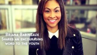 briana babineaux shares an encouraging word to the youth