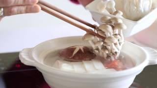 鱸魚精粹料理 元氣豆腐鮮菇鍋