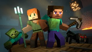 Download lagu MINESHAFT - Alex and Steve Life (Minecraft Animation)