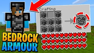 THE MOST OP ARMOUR IN MINECRAFT?! - Invincible BEDROCK Armour!! (PE/Win10)