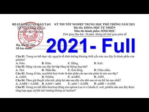 GIẢI CHI TIẾT FULL ĐỀ MINH HỌA 2021| MÔN SINH