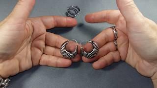4.Серебряные серьги. Мои💞 любимые.