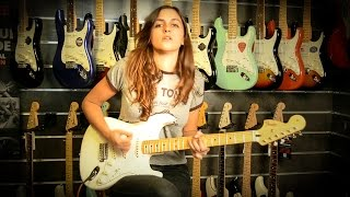 Laura Cox - Testing the new 2015 Fender Jimi Hendrix Stratocaster