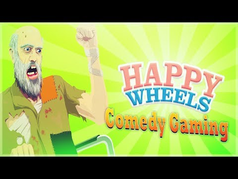 Happy Wheels - Dancing Grandpa - 300% Impossible - Comedy Gaming