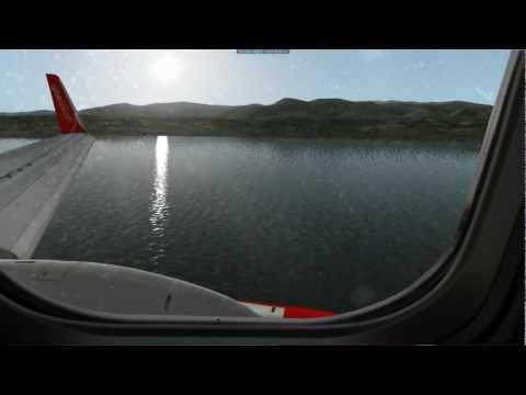 X PLANE 10 -  AIR BERLIN 737-800 BEAUTIFUL LANDING