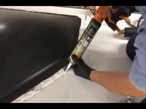 How To Re Seal An RV Roof at See Grins RV Repair In Gilroy, CA - YouTube