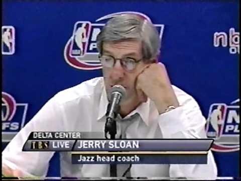 Jerry Sloan vs. Mark Cuban - 4/24/01