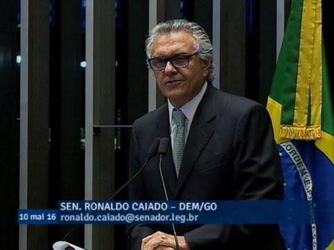 Ronaldo Caiado reafirma convicção na legalidade do processo de impeachment da presidente Dilma
