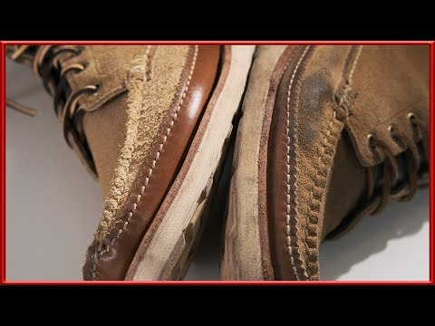 [ASMR] Clean - 'Yuketen' 'Maine Guide' suede boots 4k