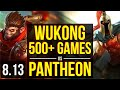 WUKONG vs PANTHEON (TOP) ~ 500+ games ~ NA Master ~ Patch 8.13